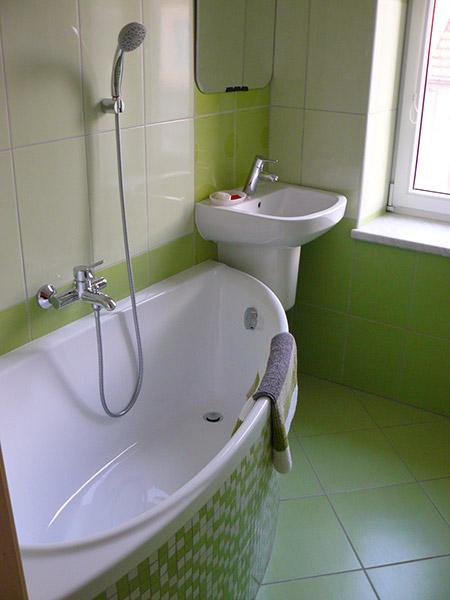 zelená koupelna